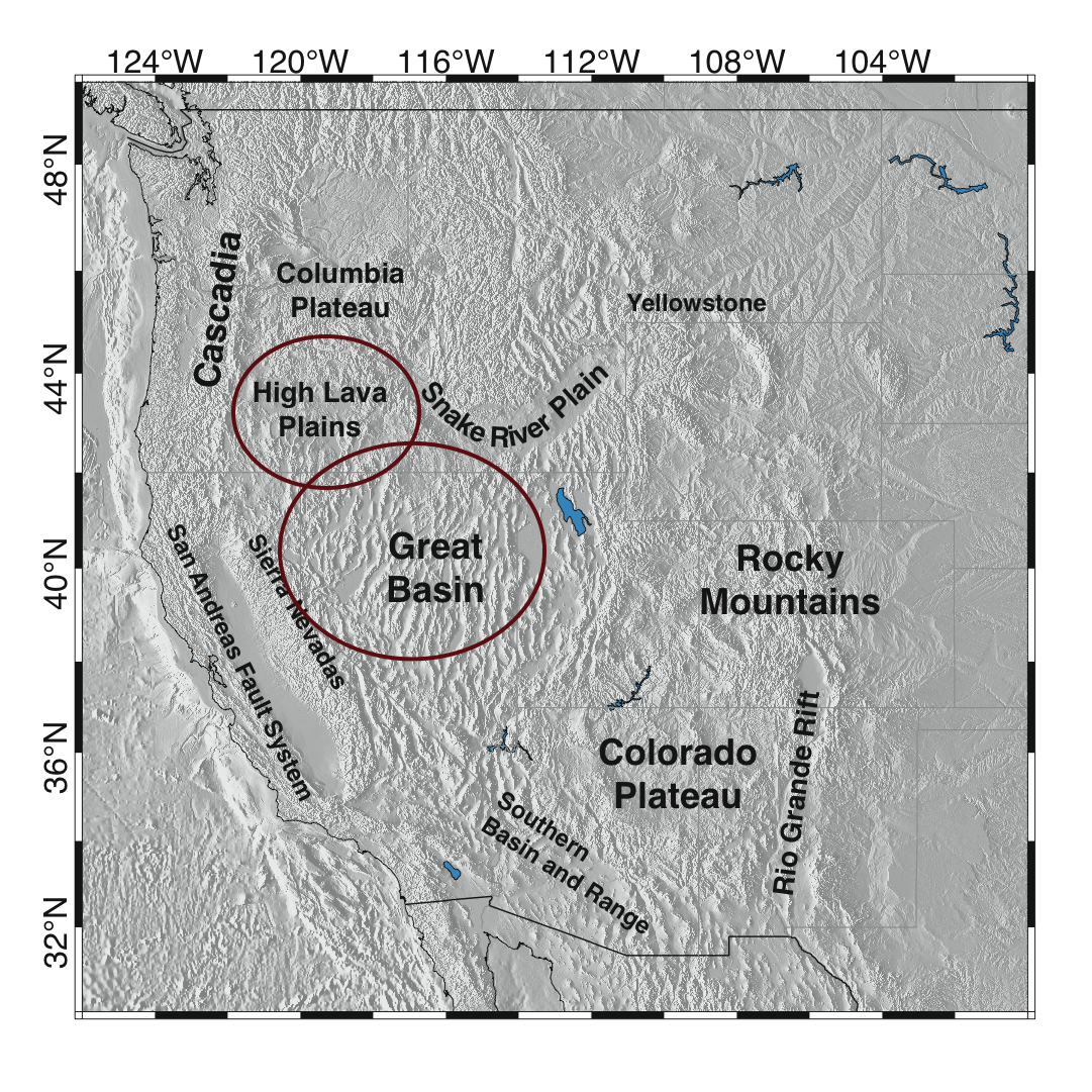 Rayleigh Wave Tomography In The Western Us Great Basin Beghein - Great-basin-on-us-map